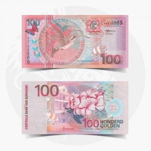 NumisDragon_America_Suriname_100_Gulden_P149_GEM_UNC