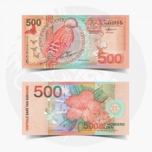 NumisDragon_America_Suriname_500_Gulden_P150_GEM_UNC