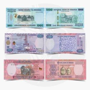NumisDragon_Africa_Rwanda_1000-2000-5000_Francs_P39-P40-P41_GEM_UNC