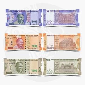 NumisDragon_Asia_India_100-200-500_Rupees_P112-P113-P114_UNC