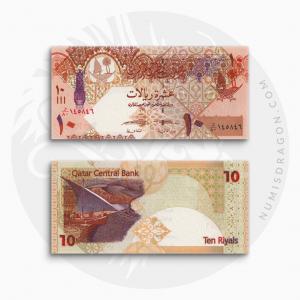 NumisDragon_Asia_Qatar_10_Riyals_P30_UNC