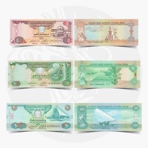 NumisDragon_Asia_United_Arab_Emirates_5-10-20_Dirhams_P26-P27-P28_UNC