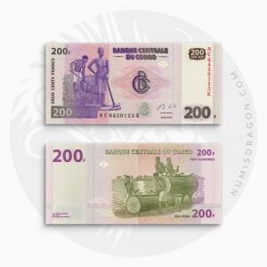 NumisDragon_Africa_Congo_200_Francs_P99_UNC