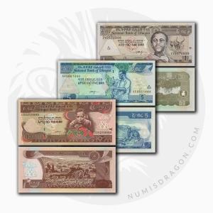 NumisDragon_Africa_Ethiopia_1-5-10_Birr_P46-P47-P48_UNC