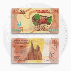 NumisDragon_Africa_Madagascar_500_Ariary_P99_UNC