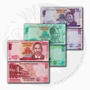 NumisDragon_Africa_Malawi_20-50-100_Kwacha_P63-P64-P65_UNC