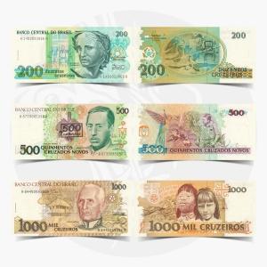 NumisDragon_America_Brazil_200-500-1000_Cruzeiros_P229-P226-P231_UNC