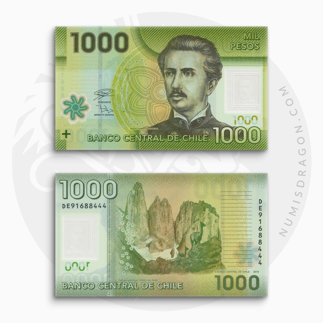 NumisDragon_America_Chile_1000_Pesos_P161_UNC
