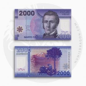 NumisDragon_America_Chile_2000_Pesos_P162_UNC