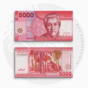 NumisDragon_America_Chile_5000_Pesos_P163_UNC