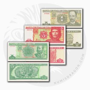 NumisDragon_America_Cuba_1-3-5_Pesos_P128-P127-P116_UNC