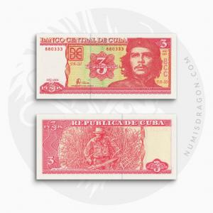 NumisDragon_America_Cuba_3_Pesos_P127_UNC
