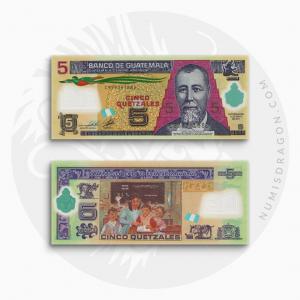 NumisDragon_America_Guatemala_5_Quetzales_P122_UNC