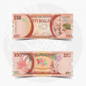 NumisDragon_America_Guyana_50_Dollars_P41_UNC