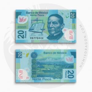 NumisDragon_America_Mexico_20_Pesos_P122_UNC