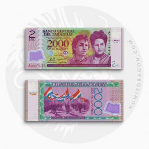 NumisDragon_America_Paraguay_2000_Guaranies_P228_UNC