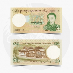 NumisDragon_Asia_Bhutan_20_Ngultrum_P30_UNC
