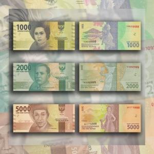 NumisDragon_Asia_Indonesia_1000-2000-5000_Rupiah_P154-P155-P156_UNC