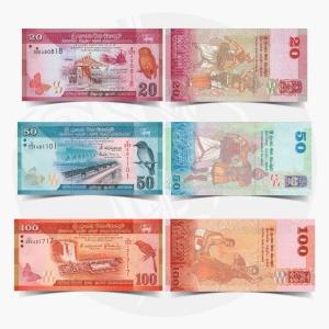 NumisDragon_Asia_Sri_Lanka_20-50-100_Rupees_P123-P124-P125_UNC