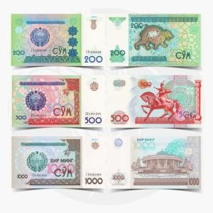 NumisDragon_Asia_Uzbekistan_200-500-1000_Som_P80-P81-P82_UNC