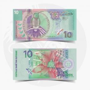 NumisDragon_Suriname_10_Gulden_P147_UNC