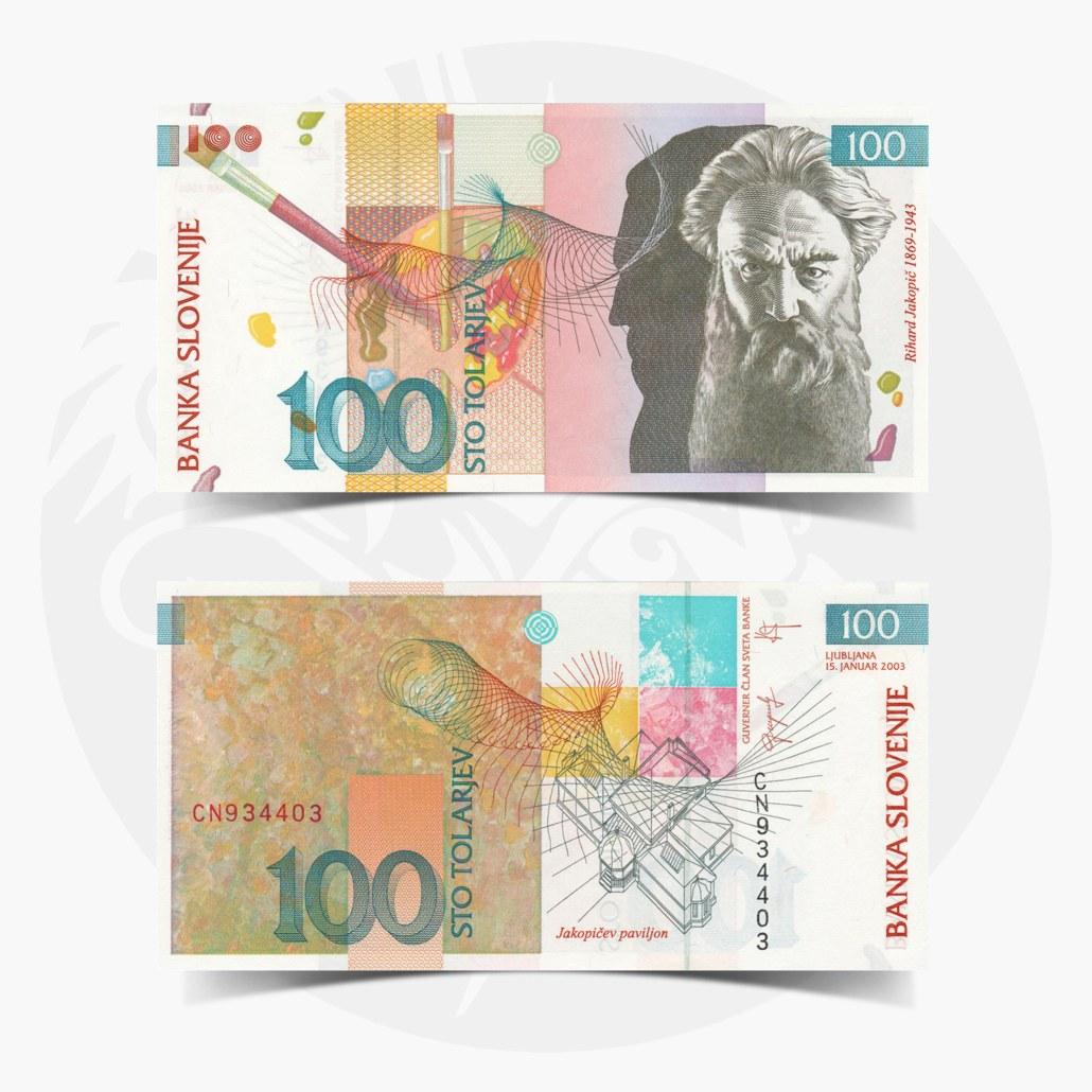 NumisDragon_Europe_Slovenia_100_Tolarjev_P31_UNC