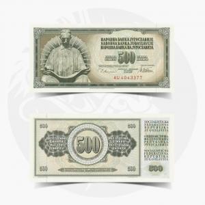 NumisDragon_Europe_Yugoslavia_500_Dinara_P91_UNC