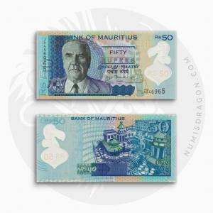 NumisDragon_Africa_Mauritius_50_Rupees_P65_UNC