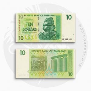 NumisDragon_Africa_Zimbabwe_10_Dollars_P67_UNC
