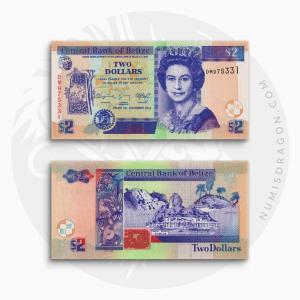 NumisDragon_America_Belize_2_Dollars_P66_UNC