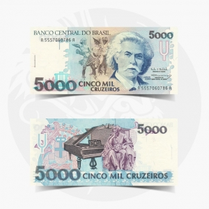 NumisDragon_America_Brazil_5000_Cruzeiros_P238_UNC