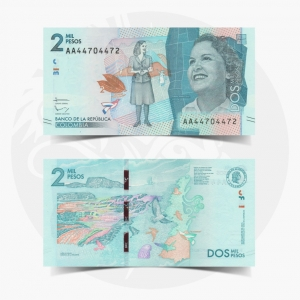NumisDragon_America_Colombia_2000_Pesos_P458_UNC