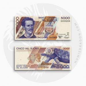 NumisDragon_America_Ecuador_5000_Sucres_P128_UNC