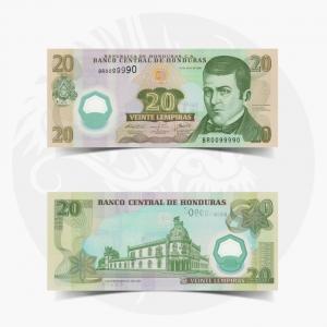 NumisDragon_America_Honduras_20_Lempiras_P95_UNC