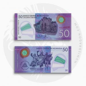NumisDragon_America_Nicaragua_50_Cordobas_P211_UNC