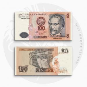 NumisDragon_America_Peru_100_Intis_P133_UNC