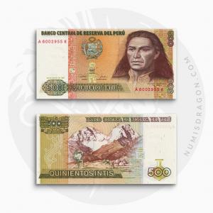 NumisDragon_America_Peru_500_Intis_P134_UNC