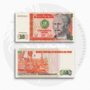 NumisDragon_America_Peru_50_Intis_P131_UNC