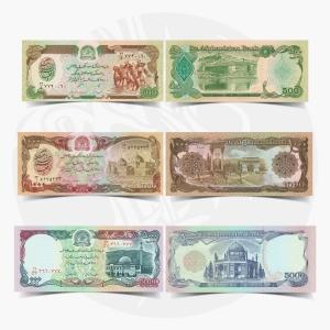 NumisDragon_Asia_Afghanistan_500-1000-5000_Afghanis_P60-P61-P62_UNC