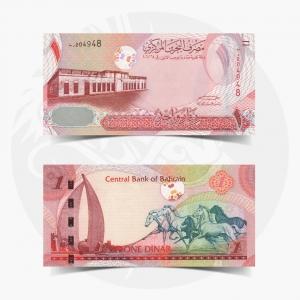 NumisDragon_Asia_Bahrain_1_Dinar_P26_UNC