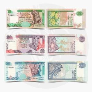 NumisDragon_Asia_Sri_Lanka_10-20-50_Rupees_P108-P109-P110_UNC