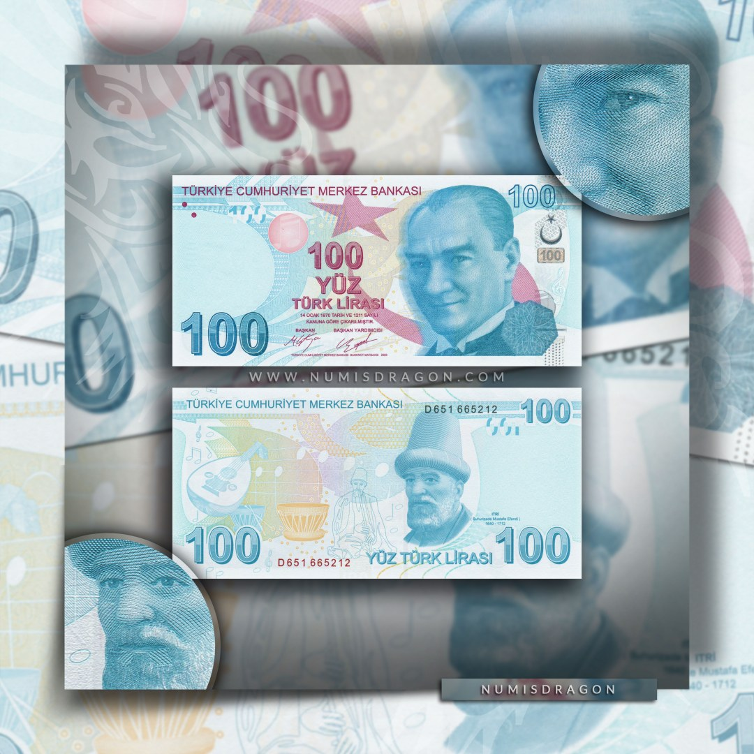 NumisDragon_Asia_Turkey_100_Liras_P226_UNC