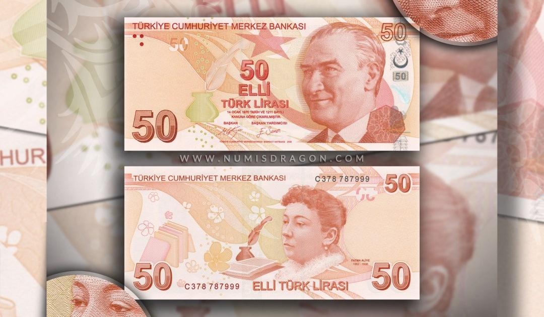 NumisDragon_Asia_Turkey_50_Liras_P225_UNC