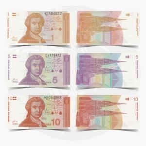 NumisDragon_Europe_Croatia_1-5-10_Hrvatskih_Dinara_P16-P17-P18_UNC